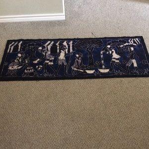 African Batik Tapestry